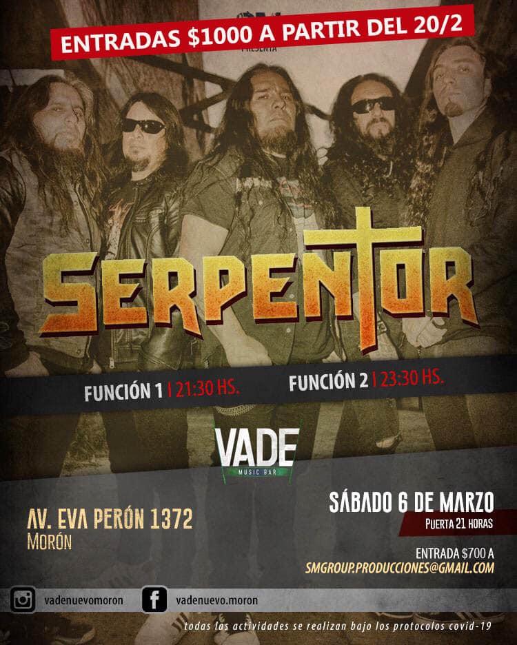 Serpentor: Thrash metal en el oeste por partida doble